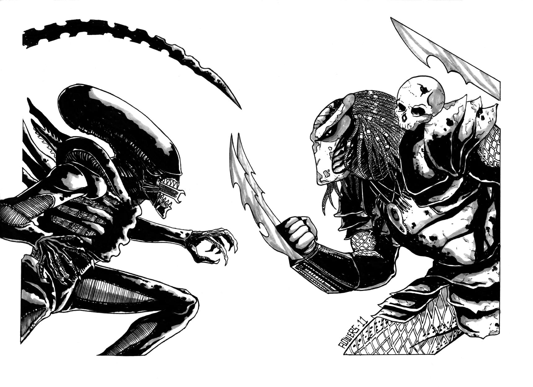 Alien Versus Predator Coloring Pages