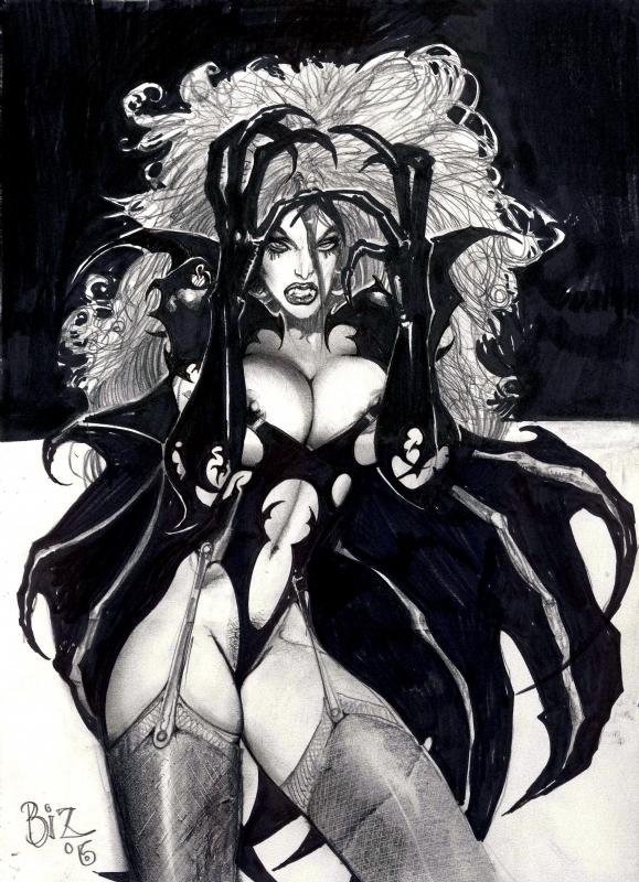 vampire girl, in andy brown's sold simon bisley art (all