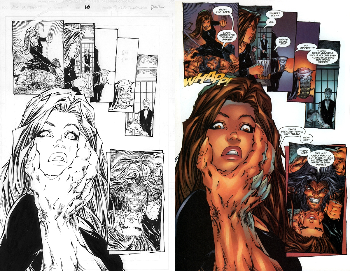 wolverinewitchblade pg 16 in mari steins michael turner