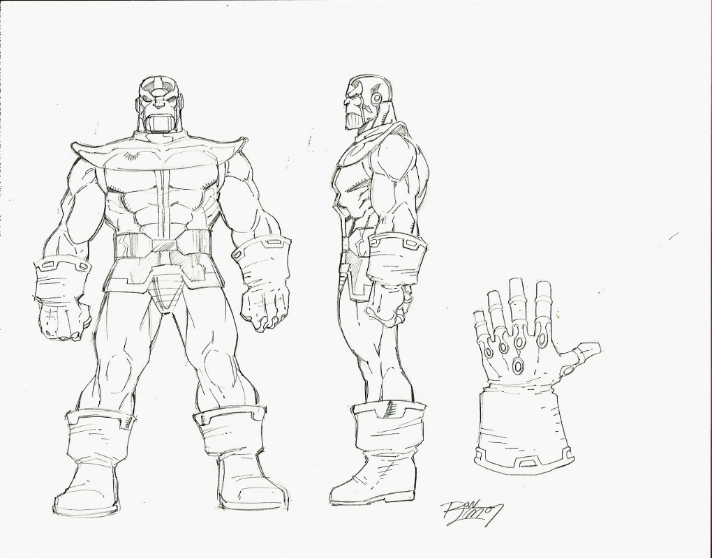 For Sale Ron Lim Thanos Amp Infinity Gauntlet Style Guide
