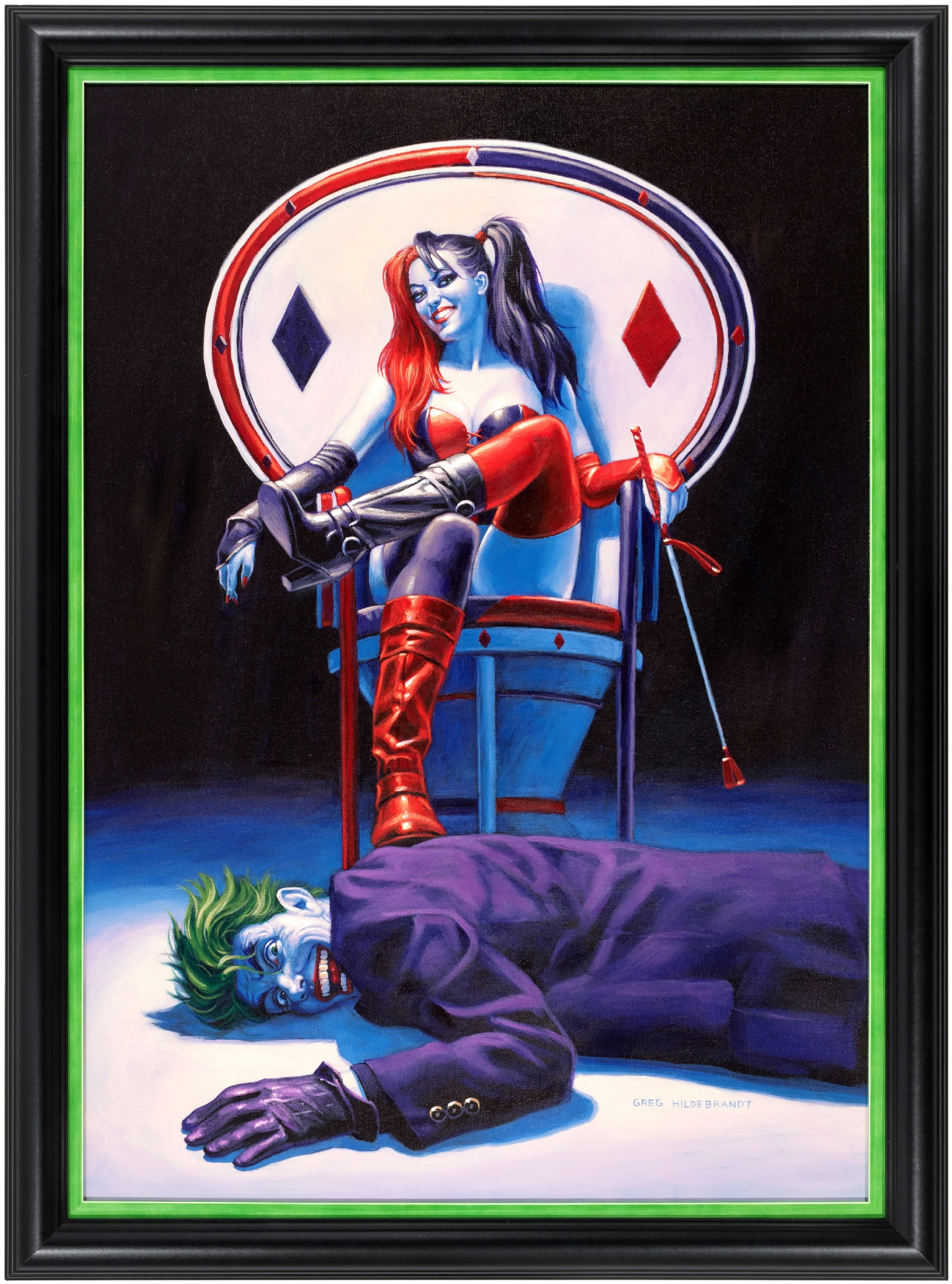Harley Quinn Amp The Joker Whiplash Original Art Painting By