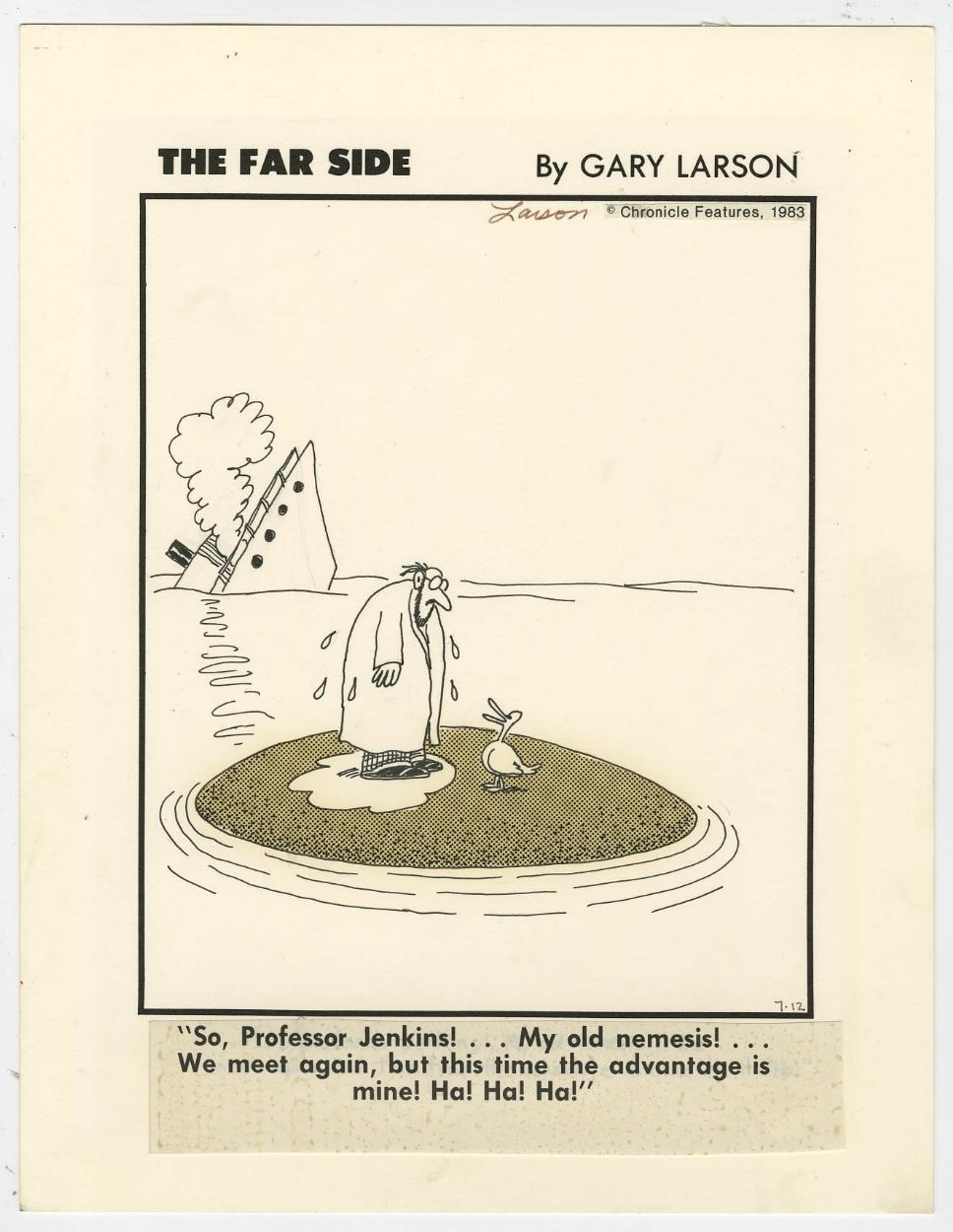 far side cartoon 1983 gary larson in original art. Black Bedroom Furniture Sets. Home Design Ideas