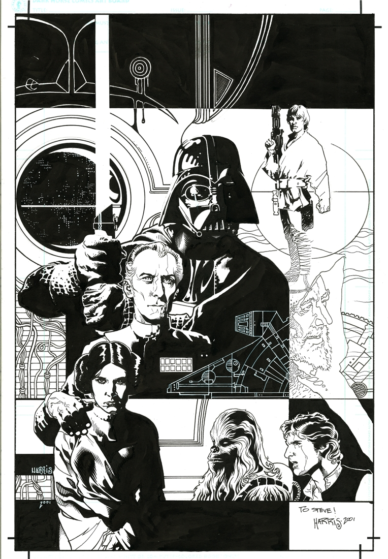 Star Wars A New Hope Infinities 1 Cover Tony Harris In