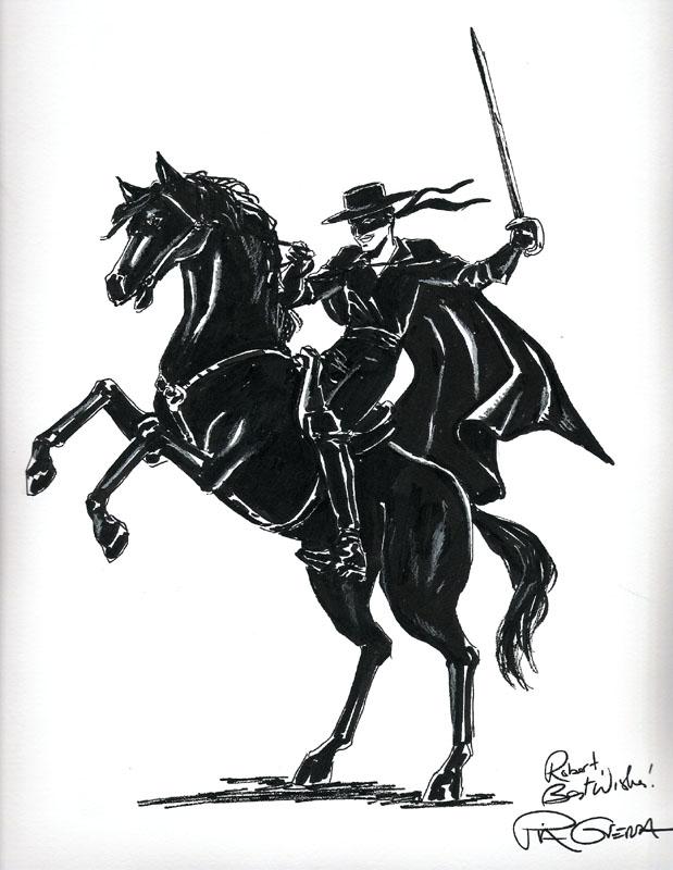 Zorro By Pia Guerra In Robert Bakeru0026#39;s Commissions- Zorro Comic Art Gallery Room