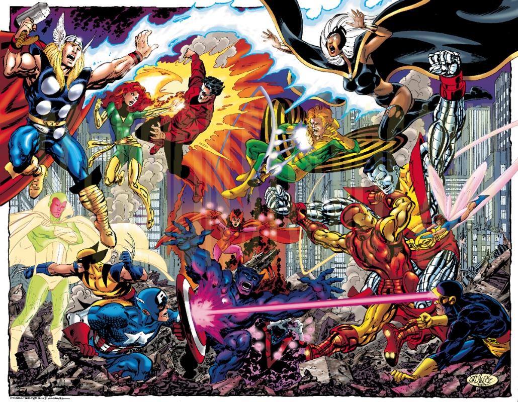 New Byrne Avengers Vs X Men Commission In Tom Smith 27
