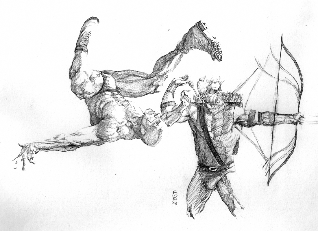 Drawing Red Lines With Green Ink : Daredevil and green arrow birds of a feather by eric w