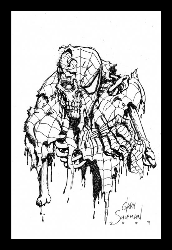 Zombie Spiderman in Gary Shipman 39 s