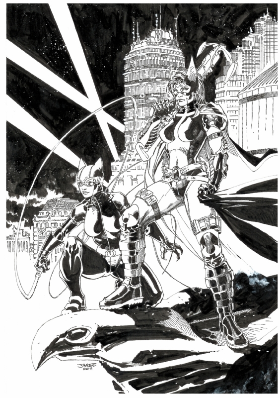 Jim Lee Huntress Amp Catwoman In John Burk S Original Art