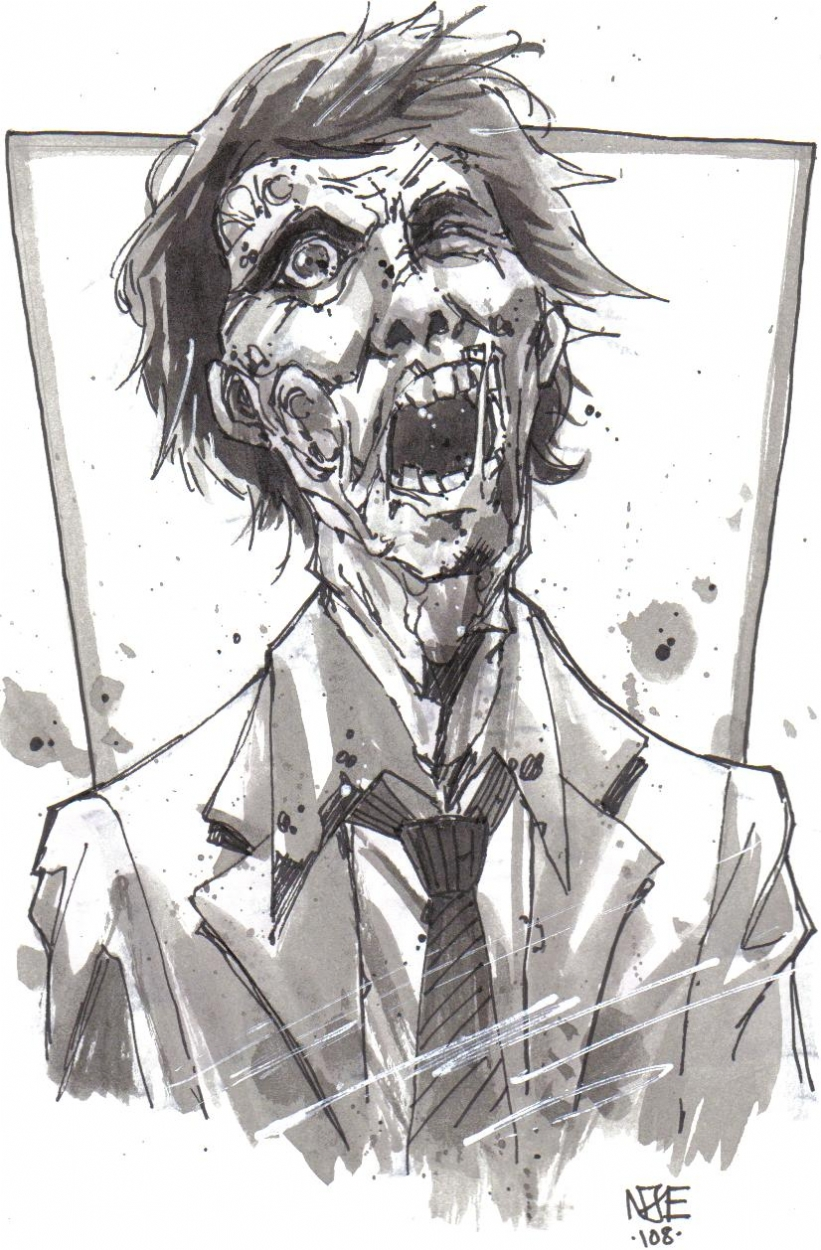 suit zombie in george cassidys nome oliver comic art