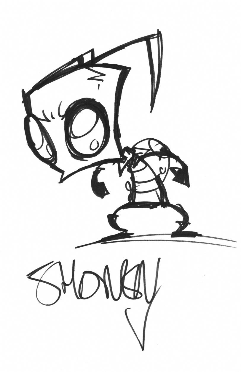 Zim by Jhonen Vasquez, in Brian Methot's Sketches Comic ...