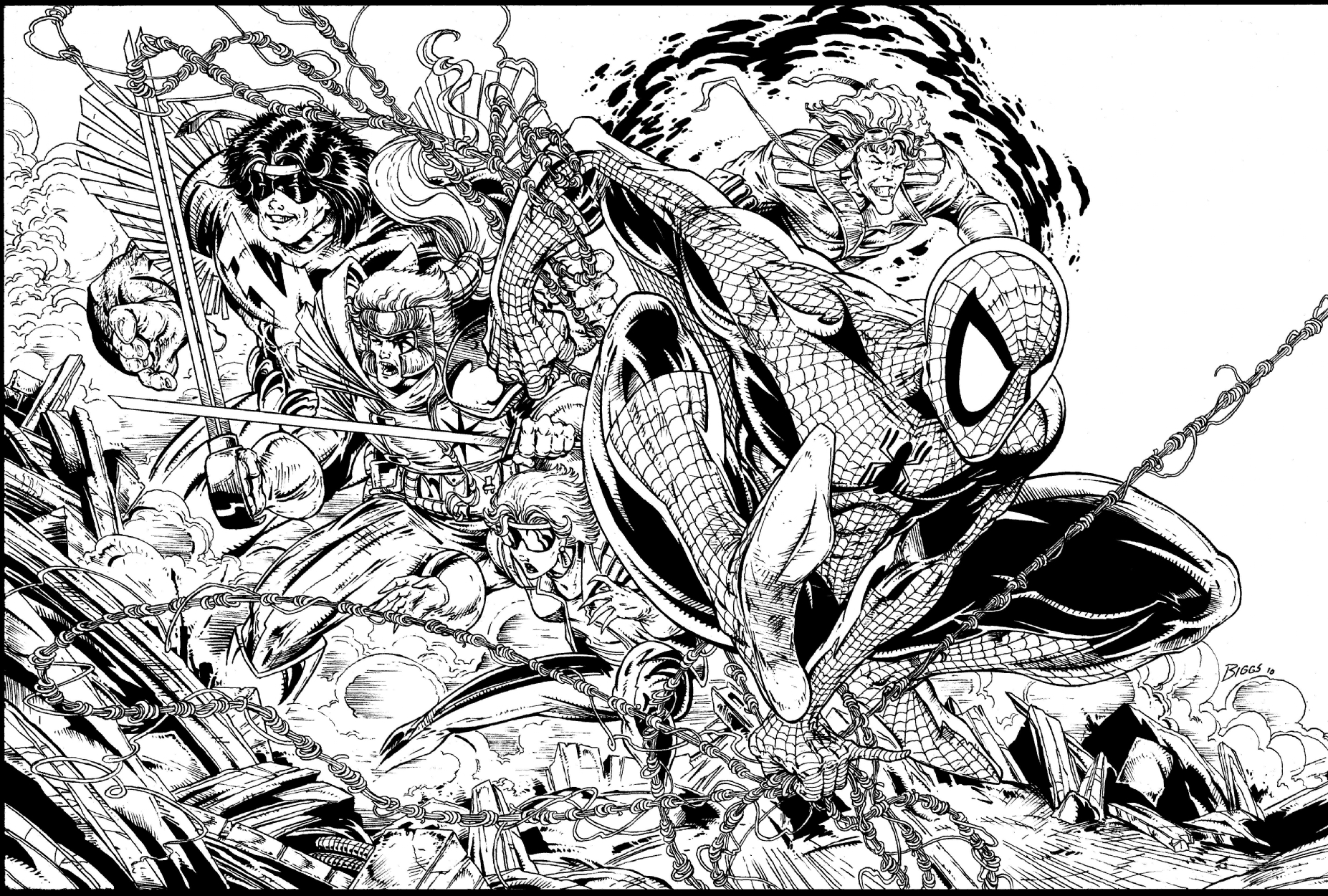 spider man issue 16 cover by jamie biggs after todd