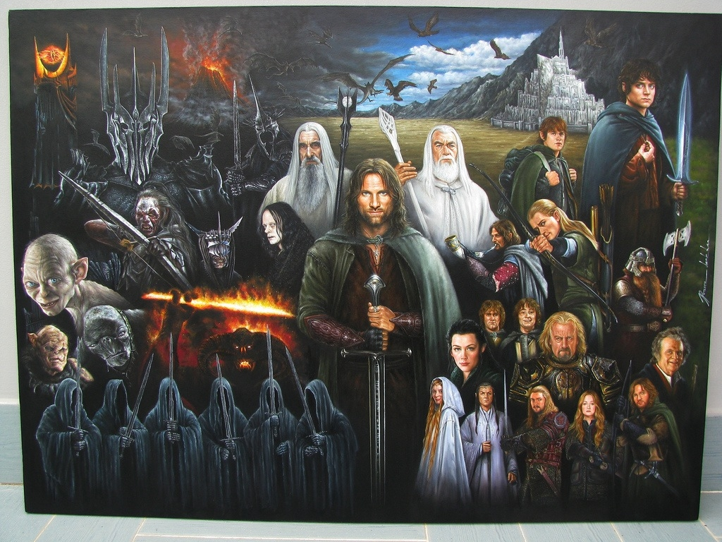 Lord Of The Rings Acrylic Paintings