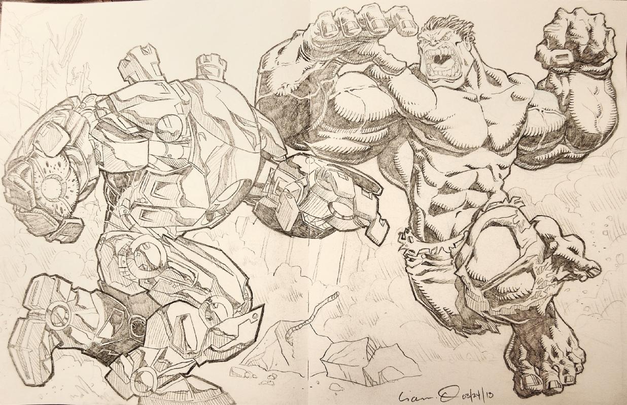Iron Man Hulkbuster Hulk Lionel Ordaz Thomas