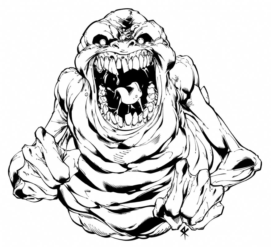 slimer ghostbusters promo art in serge lapointe's