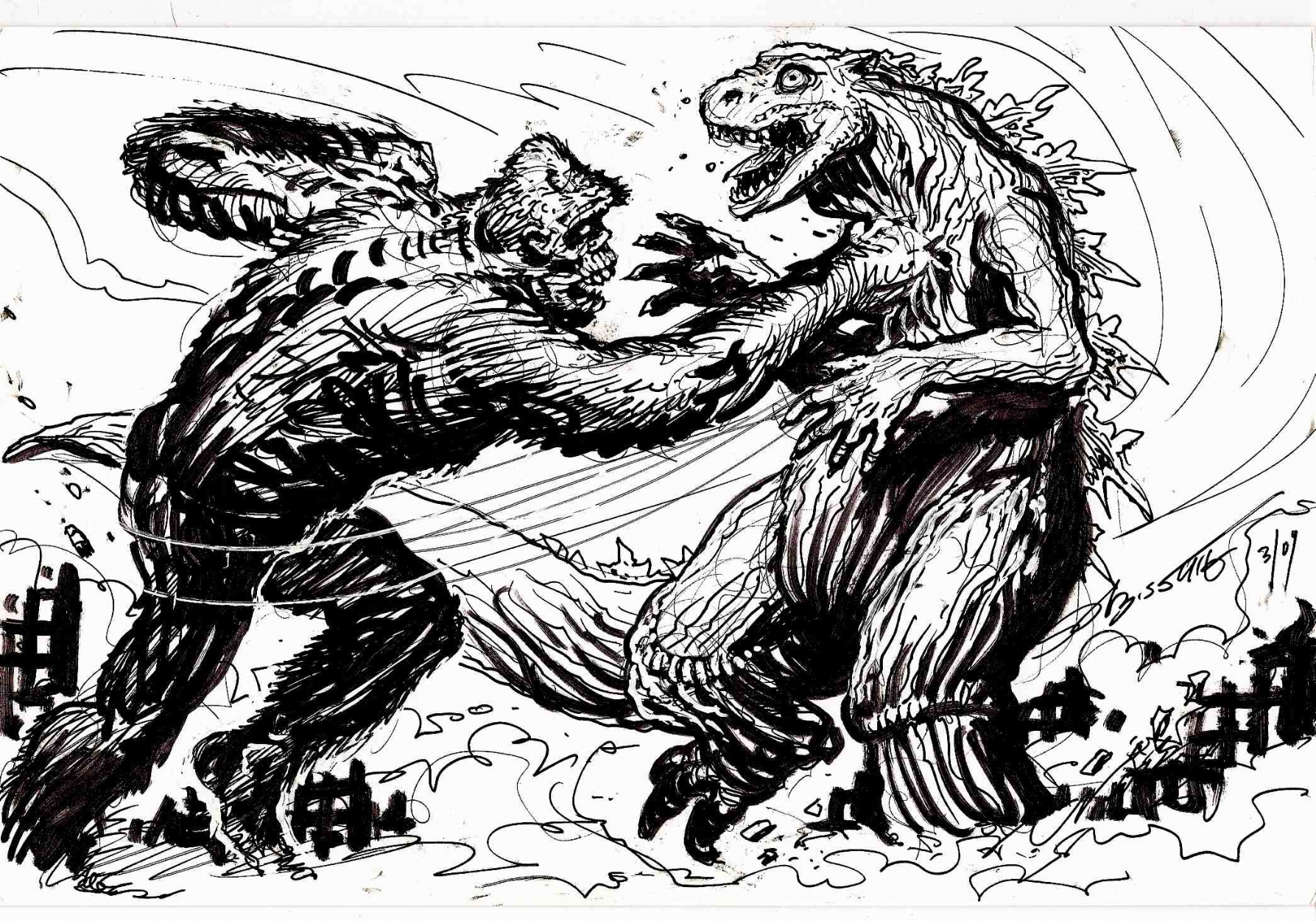 king kong vs godzilla rematch in stephen bissettes sold