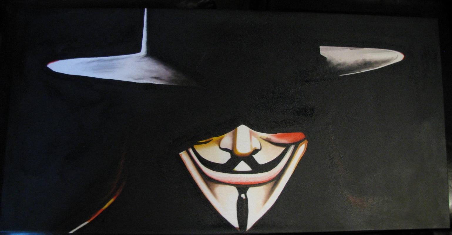 v for vendetta painting  eBay