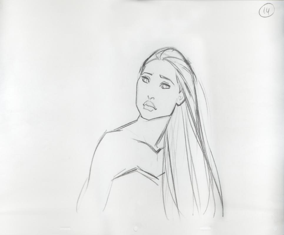 Disney, Pocahontas, Original Production Drawing, In Avi
