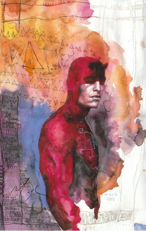 Book Cover Watercolor Artist : David mack in chuck foster s signed comic books prints
