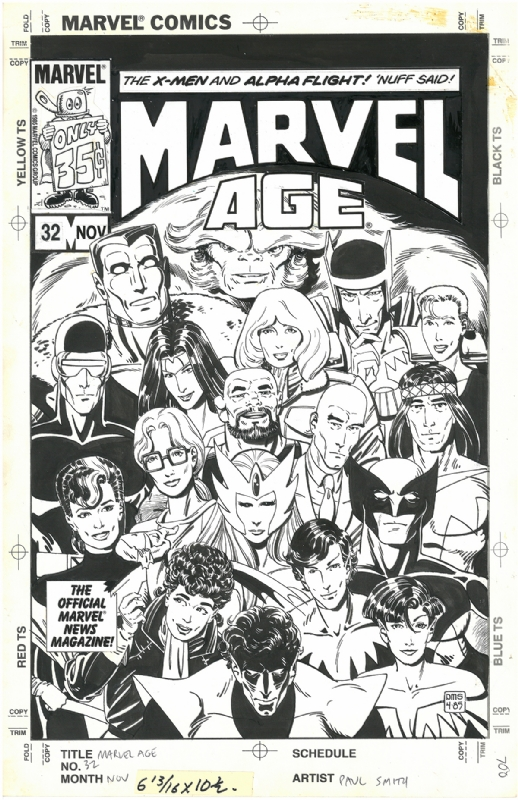 Marvel Age 32 Cover By Paul Smith Marvel 1985 In James