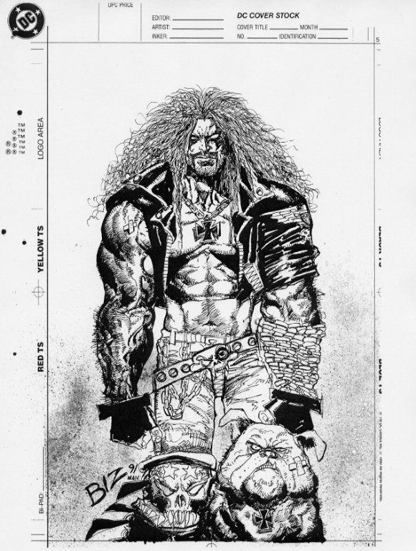 The Women Of Dc Comics Ink In Adam Withers S Dc Comics: Lobo Unpublished Cover By Simon Bisley, In Steve Welch's