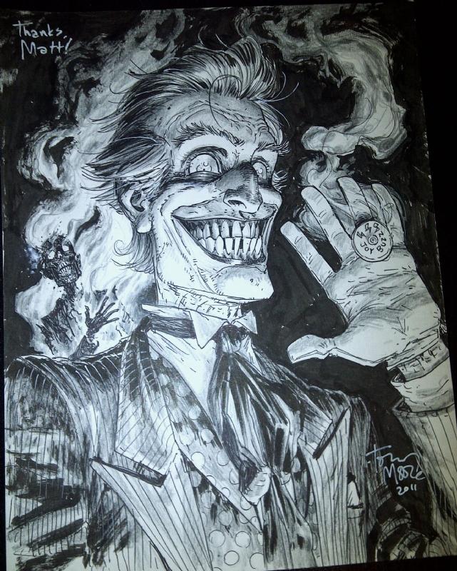 The joker full body silhouette