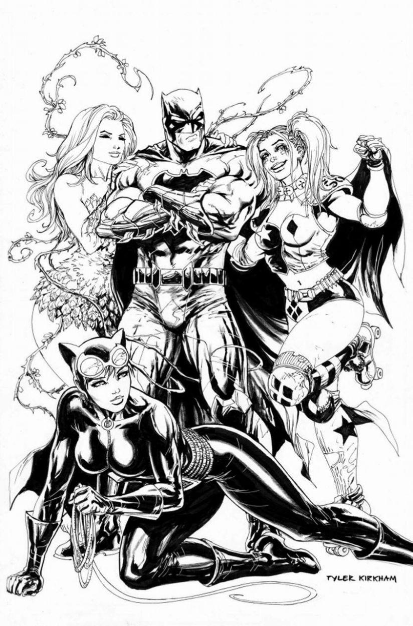 Batman Rebirth 1 By Tyler Kirkham Cat Woman Poison Ivy