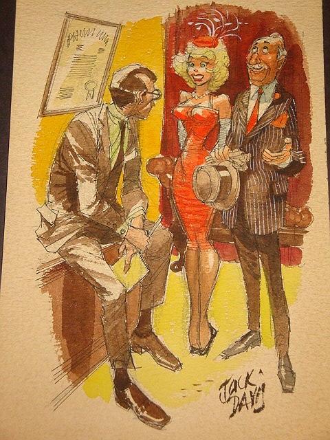 Jack Davis Color Gag Cartoon In Johnny C S Gag Cartoon