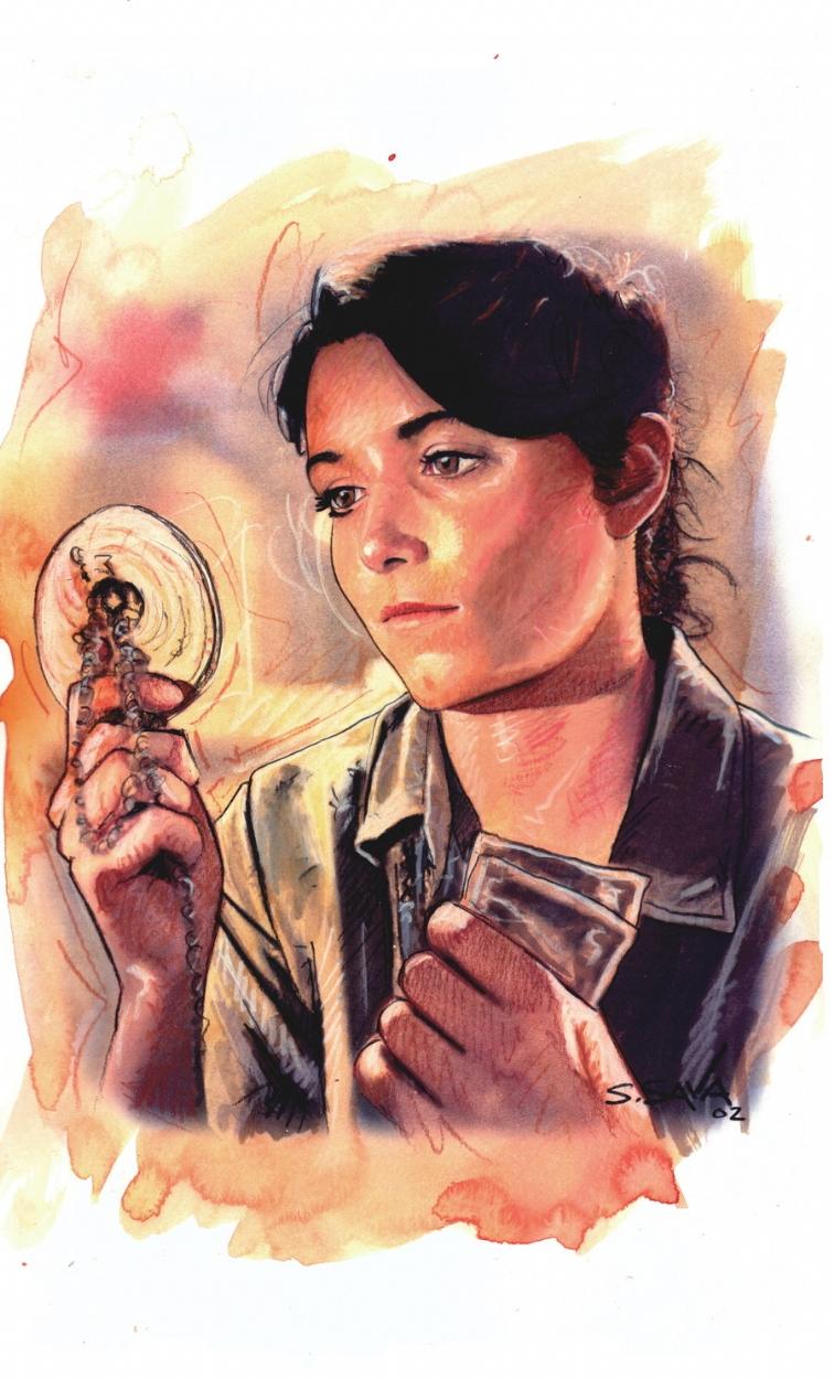 Marian from Indiana Jones, in Scott Sava's Portraits Comic ...