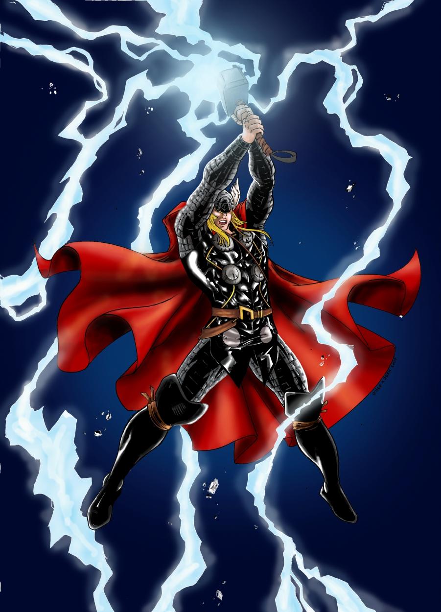 artwork gods lightning marvel - photo #17