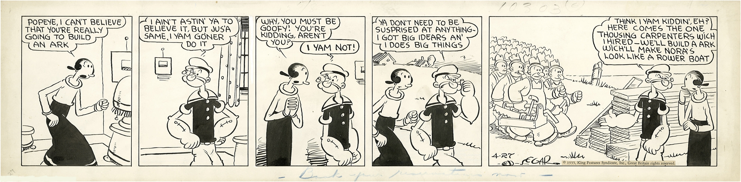 strips popeye 1929 daily