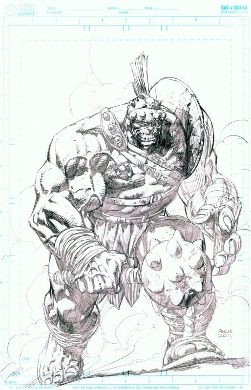Planet Hulk By David Finch 2011 Sdcc In Ken M S Hulk