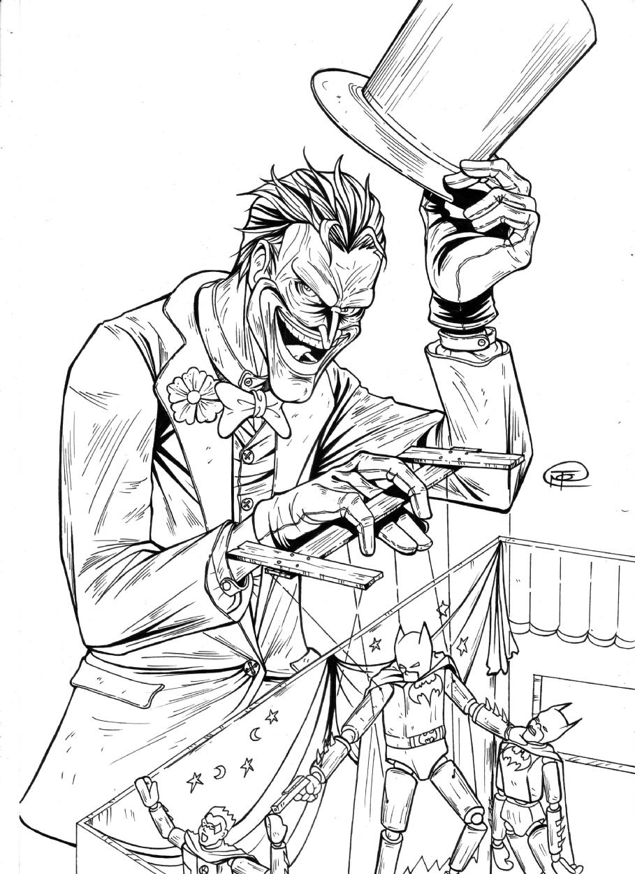 Line Art Comic : The joker in bekti martono s pencil inking and lineart