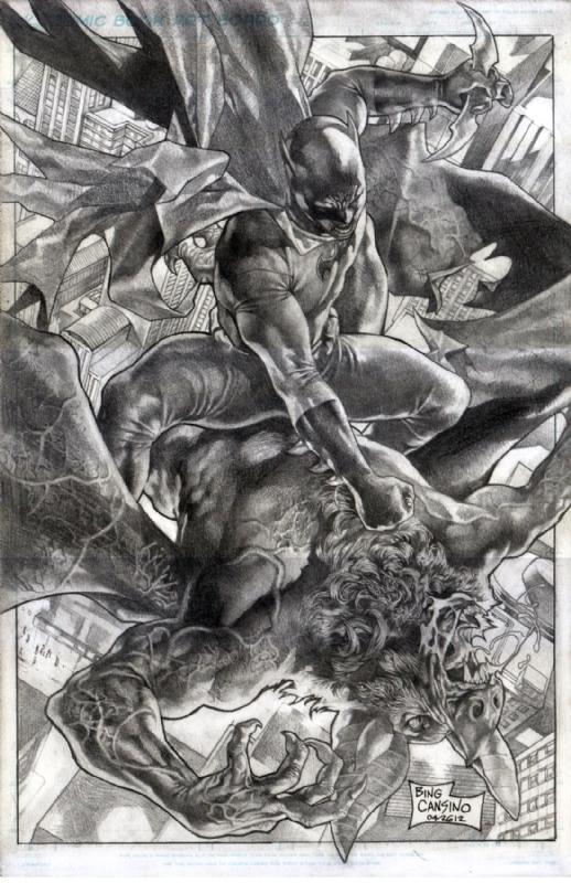 Batman Vs Man-Bat by Bing Cansino, in J M T's Bing Cansino ... Manspider Vs Manbat