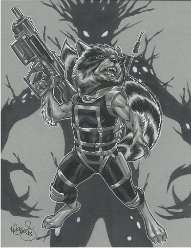 Mark Brooks Rocket Raccoon In James Walker S For Sale border=