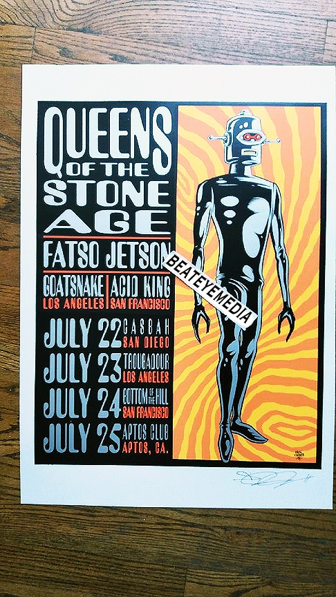 Alan forbes concert poster queens of the stone age qotsa for Queens of the stone age tattoo