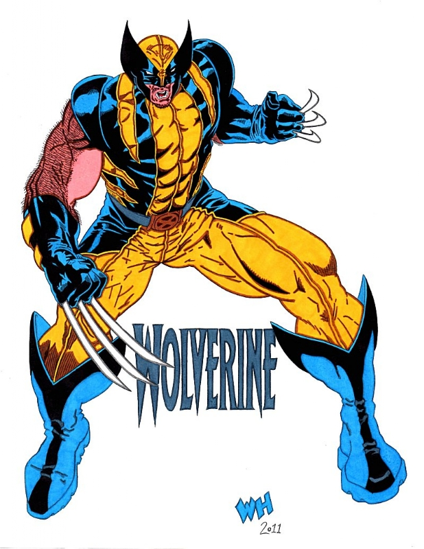 Wolverine blue and yellow colored in wayne hebb s