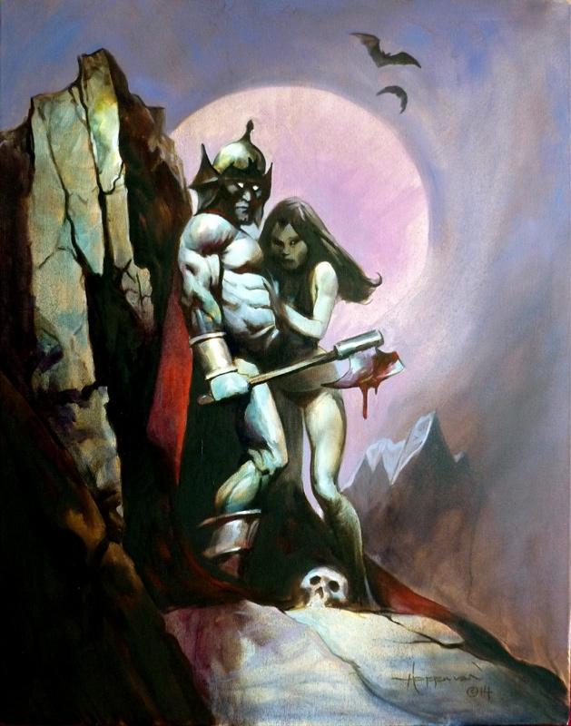 The Last Jedi Ending >> Mike Hoffman - Vampire Warrior Lovers, in Roland .'s Mike Hoffman Comic Art Gallery Room