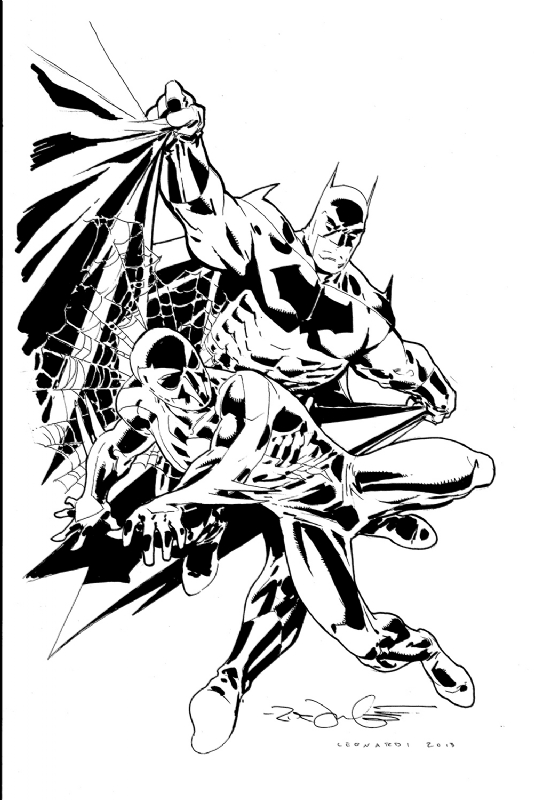 Batman and spider man 2099 by rick leonardi in jens for Spider man 2099 coloring pages